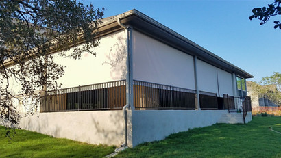 Screen porch blinds Leander Texas.