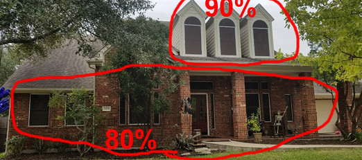 90% for the dormes and 80% for the 1st floor.