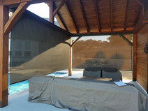 Austin Texas outdoor patio blinds.