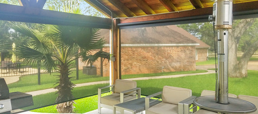 Picking the correct height for your outdoor roller shades.