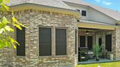 Chocolate Brown fabric Cedar Park Texas 90% solar screens back of home.