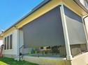 Black color sun screens for porches & patios Austin TX.