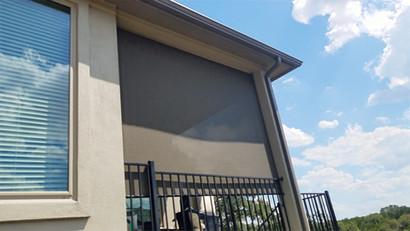Leander outdoor solar shades.