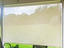 Beige White sun fabric outdoor patio screens  Round Rock TX.