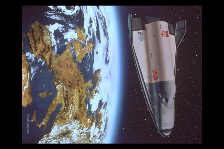 ESA's Hermes spacecraft before re-entry