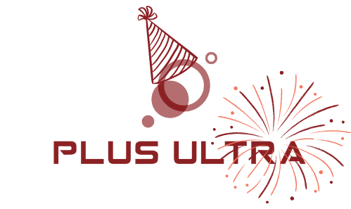 Plus Ultra Space happy birthday logo