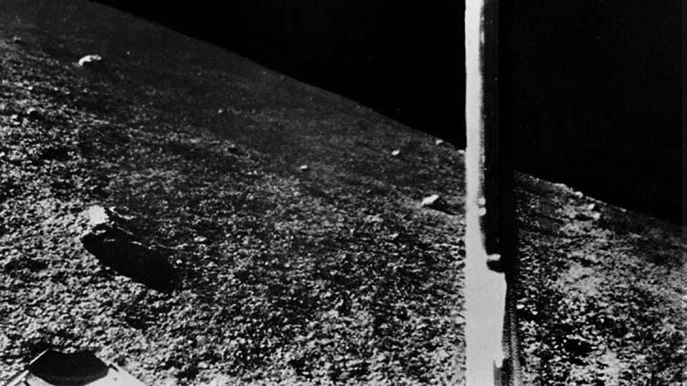 The first images from lunar surface, sent by Luna 9 lander.