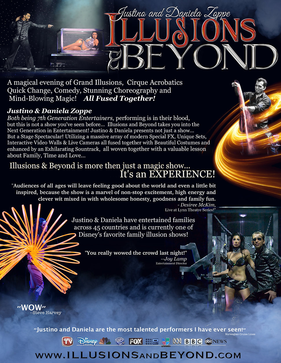 Justino & Daniela Zoppe's Brochure featuring the hit show Illusions and Beyond