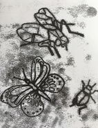 Monoprinting with block printing ink