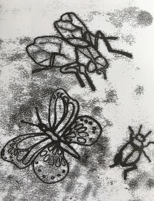 Monoprinting with block printing ink