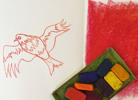 Monoprinting with Crayons