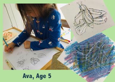 Ava: Monoprinting Bugs
