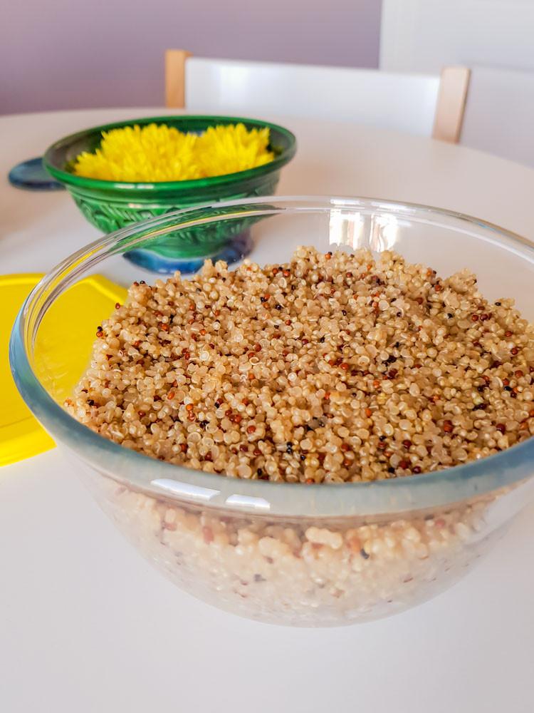 Meal prepping - quinoa salad