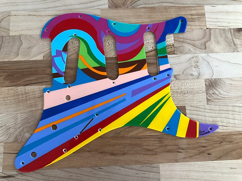 Hand Painted Pick Guard s-s-s