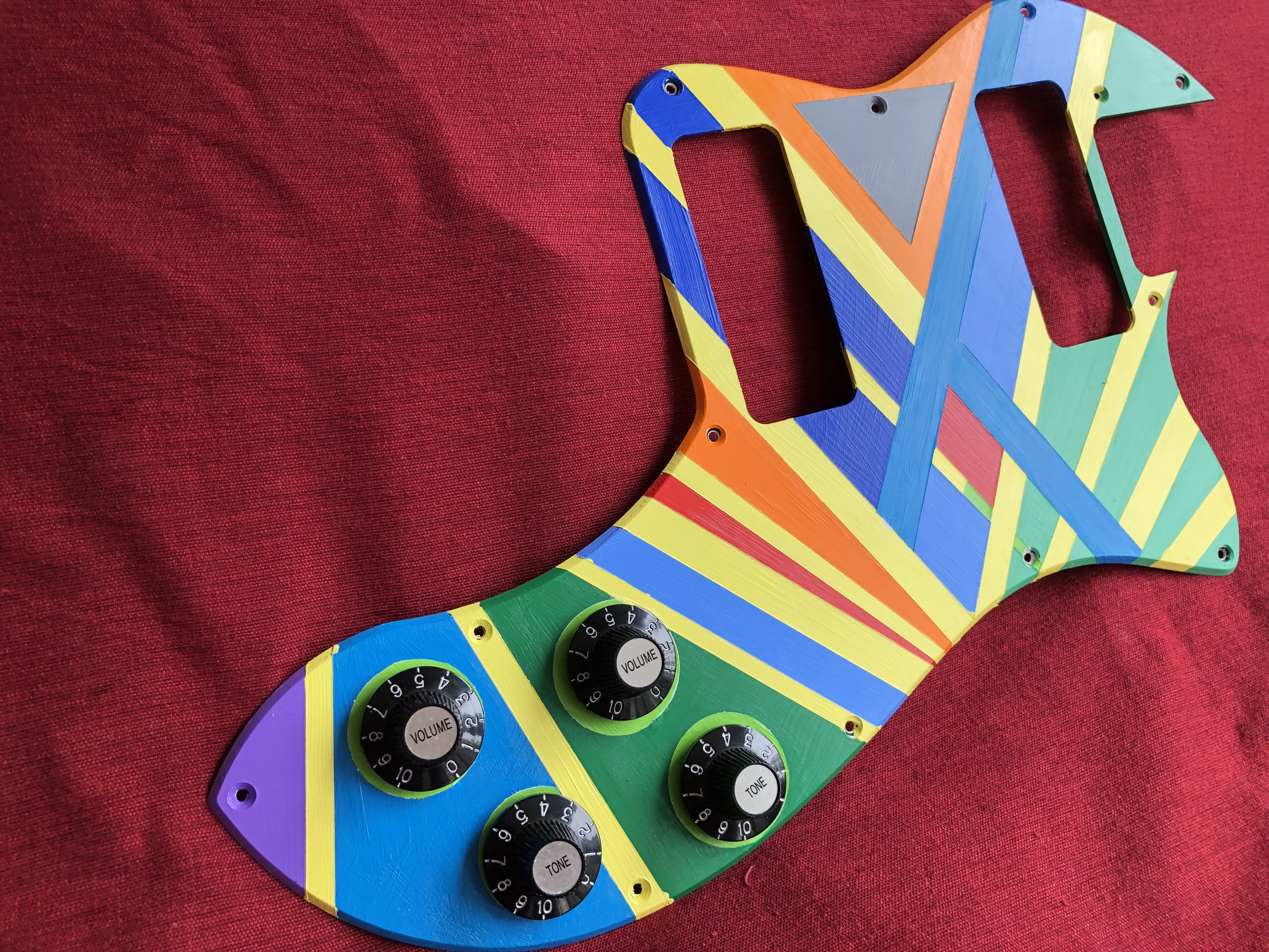 Hand Painted Pick Guard