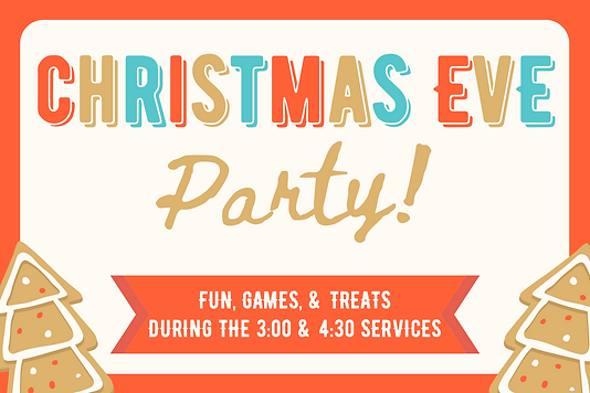 Journey Kids Christmas Eve Party Invite.