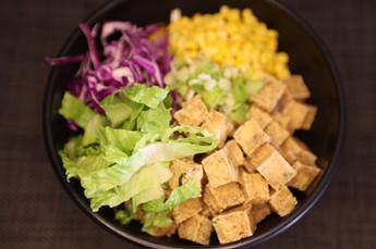 Sesame Tofu & Veggies w/Creamy Katsu Sauce Rice Bowl