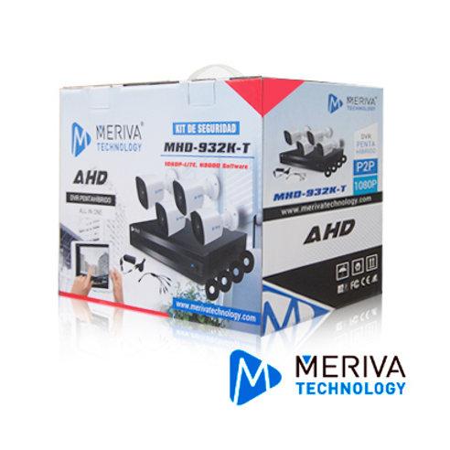 KIT 4X4 MHD-932K-T DVR 4CH MSDV-910-04+ 4 MBASHD2202 MET�LICAS