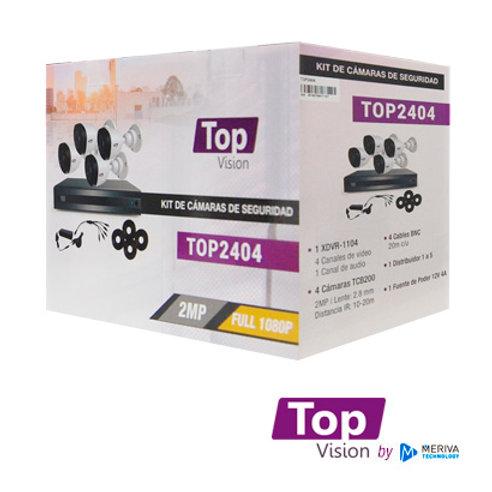 KIT 4X4 TOP2404 FULL 1080P INCLUYE: 1 DVR 4CH XDVR-1104 + 4 C�MARAS BULLET 1080P