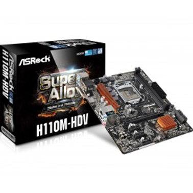 TARJETA MADRE ASROCK H110M-HDV 2DDR4 USB3.0 HDMI SOC 1151 6TA GEN