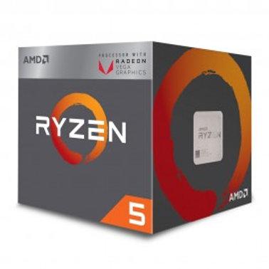 AMD RYZEN 5 2400G, W5 3.6 GHZ 65W SOC AM4 RADEON RX VEGA GRAPHICS