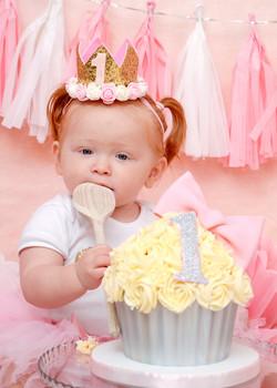 Cake smash, birthday photo Essex