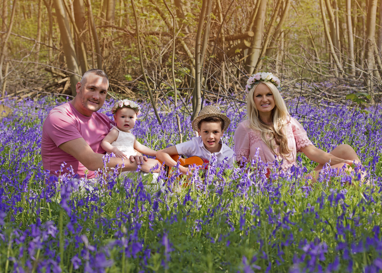 Family Photographer, Essex Bluebells