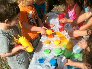 Science for Preschoolers -  Rainbow Activity