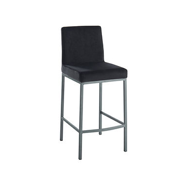 Diego Counter Stool - Black w/ Grey Base