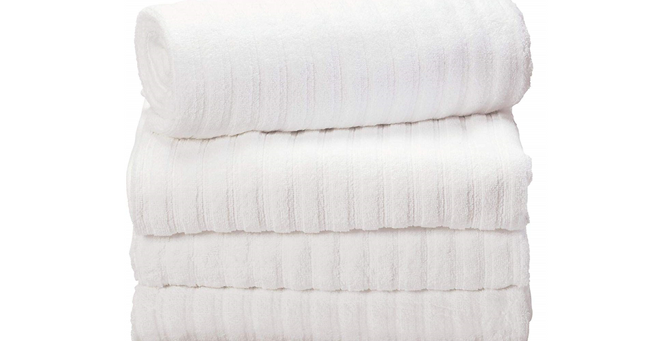 Ribbed White Towels
