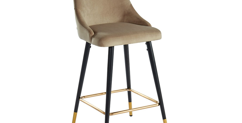 Roxanne Counter Stool - Taupe