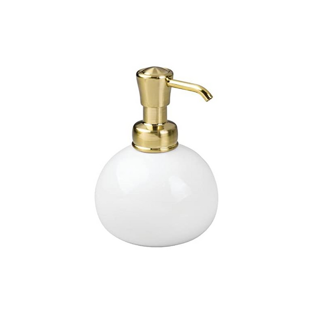 York Round Soap Dispenser Brass