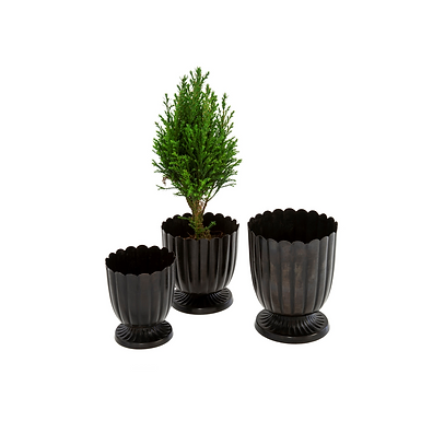 Black Metal Urns (3 sizes)