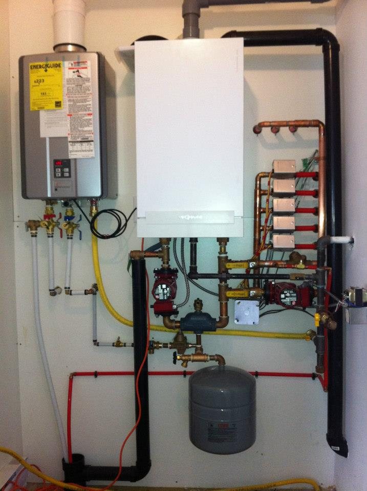 High efficiency heating install