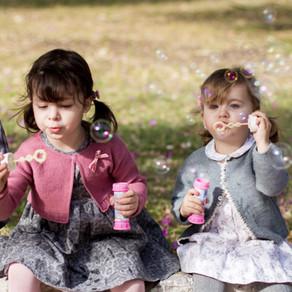 Sesión infantil ♥ Parque y pompas para cuatro primos