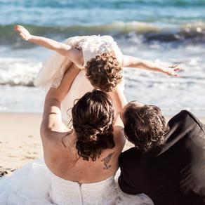 M&X ♥ Postboda en familia en la playa