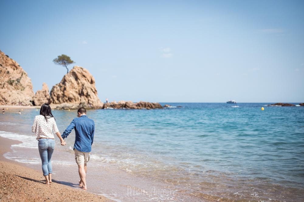 Preboda en Tossa de Mar, fotografía natural de bodas en Barcelona y Girona - Mon Amour Wedding Photography by Mònica Vidal