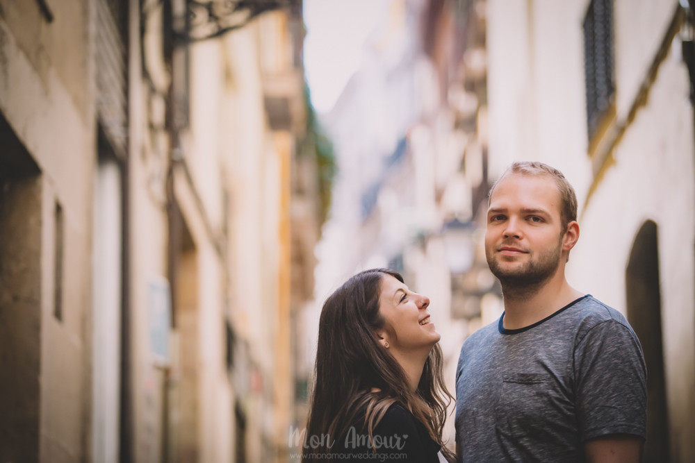 Preboda en Barcelona  - Fotografía de bodas natural en Barcelona - Mon Amour Wedding Photography