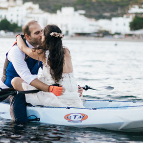 E&R ♥ Postboda i Trash the Dress en Kayak por Cadaqués