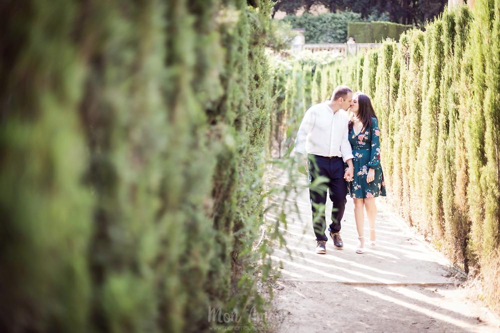 Preboda en el parque del laberinto de horta, fotografía natural de bodas en Barcelona, Mon Amour Wedding Photography by Mònica Vidal