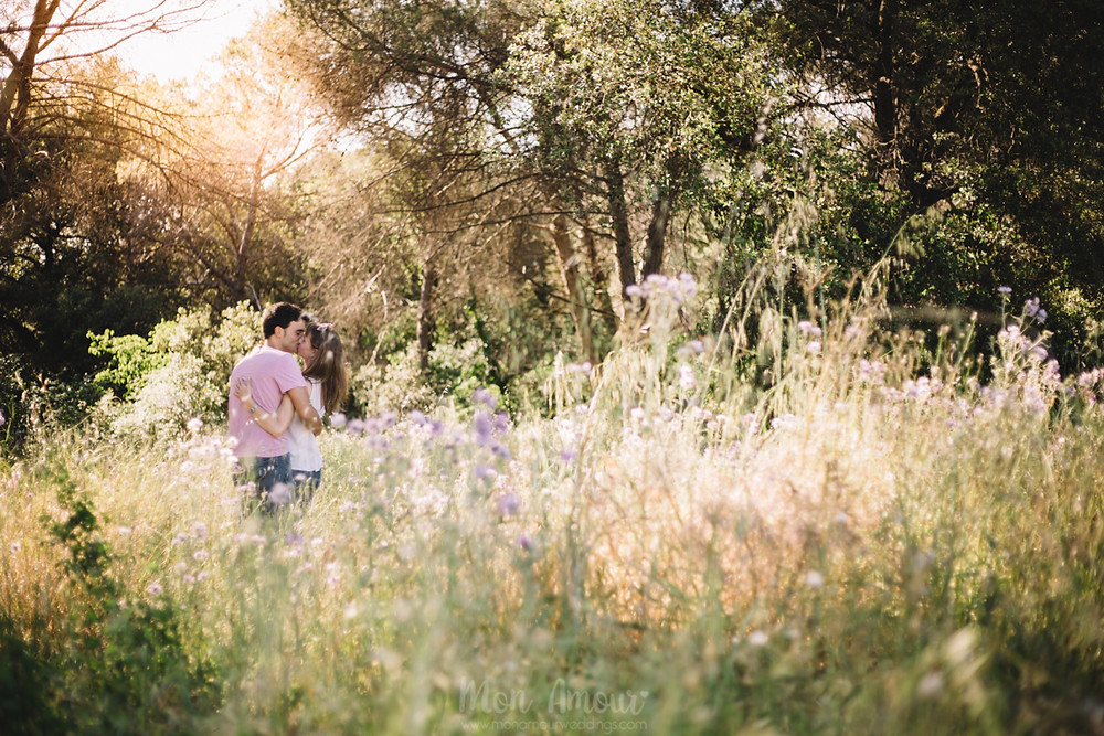 Preboda en el bosque, fotografía natural de bodas en Barcelona, Mon Amour Wedding Photography