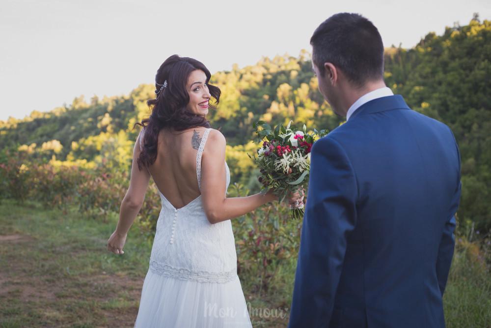 First Look, fotografía de bodas natural en Barcelona, Mon Amour Wedding Photography