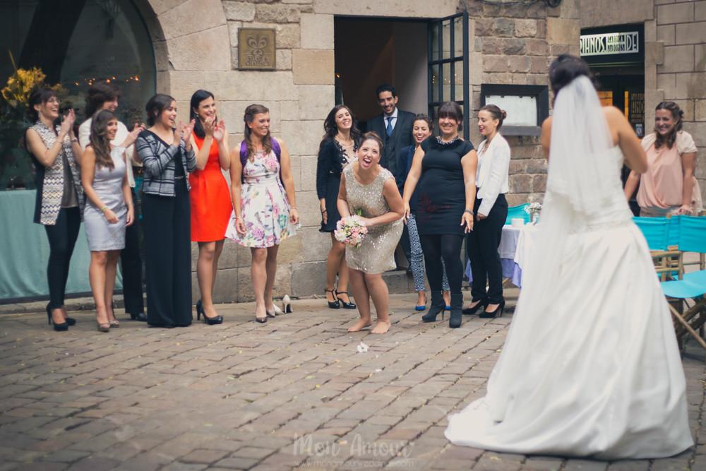 Fotografía natural de bodas, fotoperiodismo de bodas en Barcelona - Mon Amour Wedding Photography