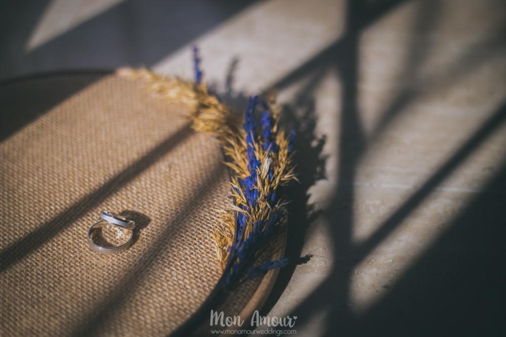 Alianzas en aro de costura - Fotografía de bodas en Barcelona - Mon Amour wedding photography