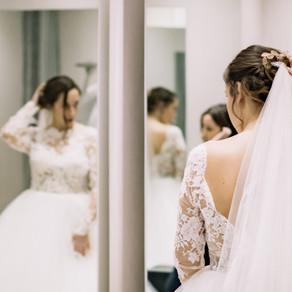 C ♥ Bride's Look, prueba de vestido de novia en Rosa Clará