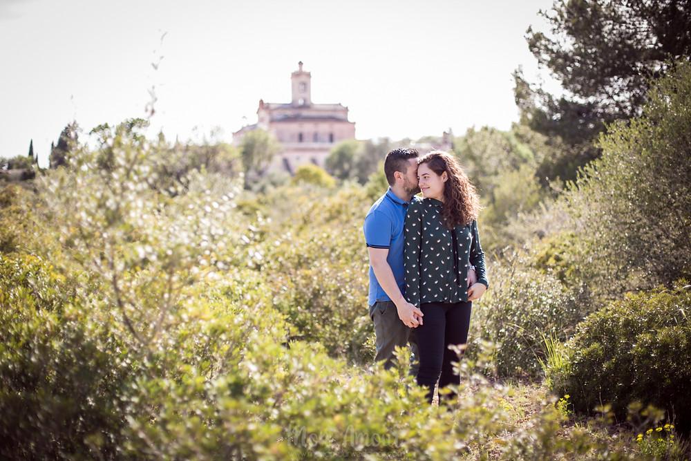 preboda al atardecer en el Garraf - fotografía natural de bodas en Barcelona, Mon Amour Wedding Photography by Mònica Vidal