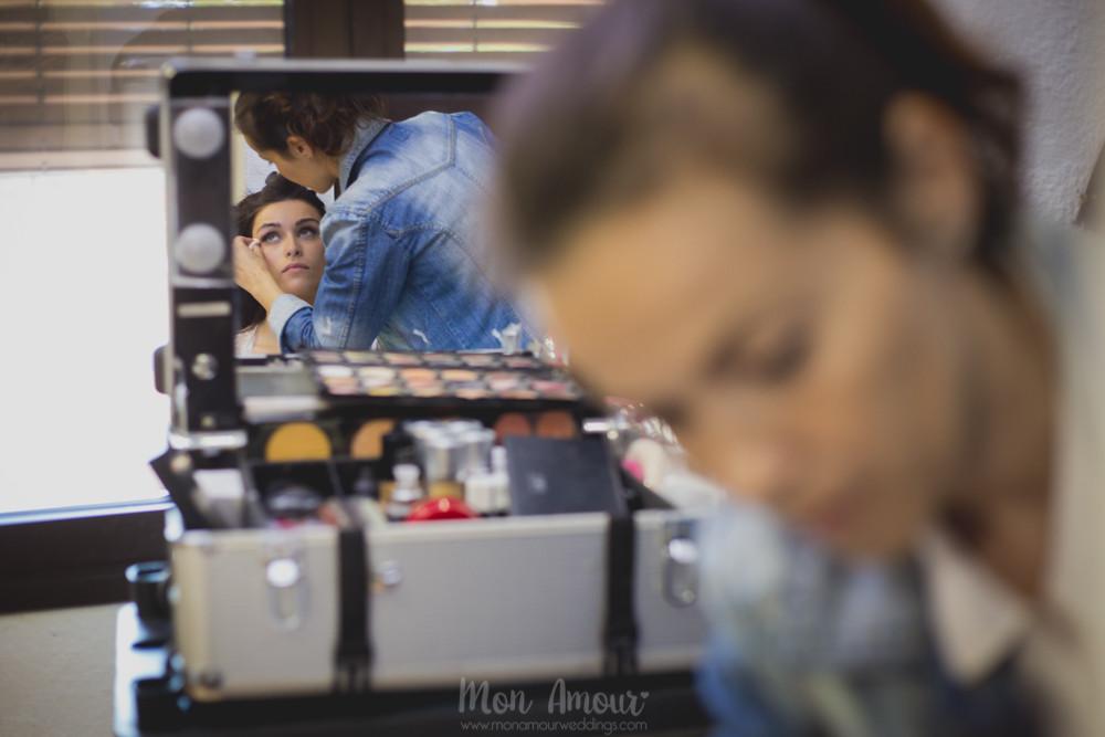 Maquillaje de novia por Marta Martí - Fotografía de bodas natural en Barcelona - Mon Amour Wedding Photography