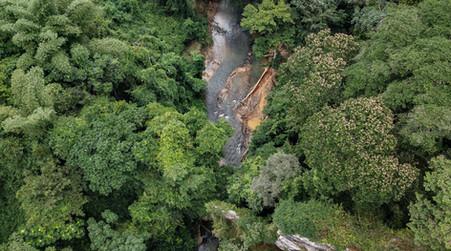Vue aérienne des portes du Mayombe