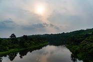 Coucher de soleil sur la Nkéni