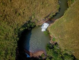Vue aérienne des chutes